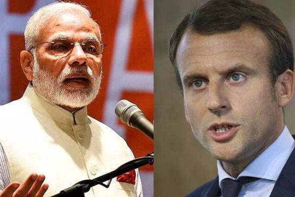 مذاکره نخست وزیر هند و رییس جمهوری فرانسه در مورد خاورمیانه