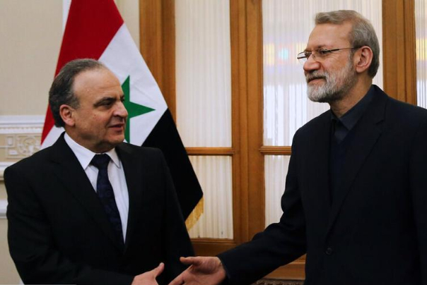 دیدار عماد خمیس و لاریجانی