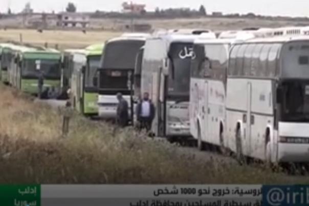خروج هزار تن از ساکنان منطقه ادلب