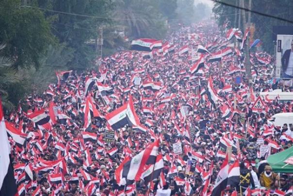 گردانهای سرایا السلام: تظاهرات امروز، یک همهپرسی علیه اشغالگری آمریکا است