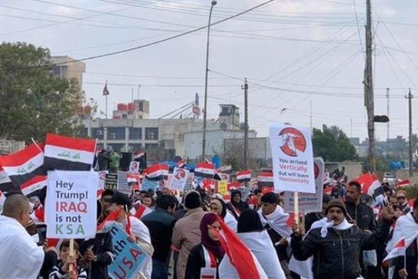 نماینده پارلمان عراق: تظاهرات امروز پیامی به ترامپ است