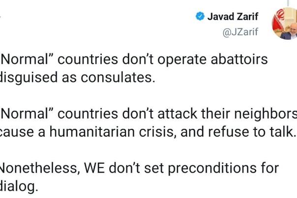 ظریف: کشورهای عادی از مذاکره سرباز نمیرنند