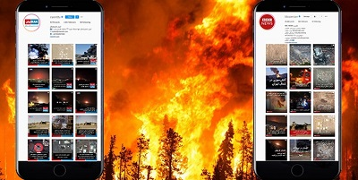 231 خبر BBC و ایران اینترنشنال از آتشسوزیهای ایران و سکوت در برابر آتشسوزیهای آمریکا