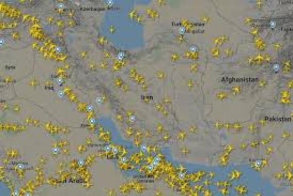 افزایش 36 درصدی پروازهای عبوری از آسمان ایران