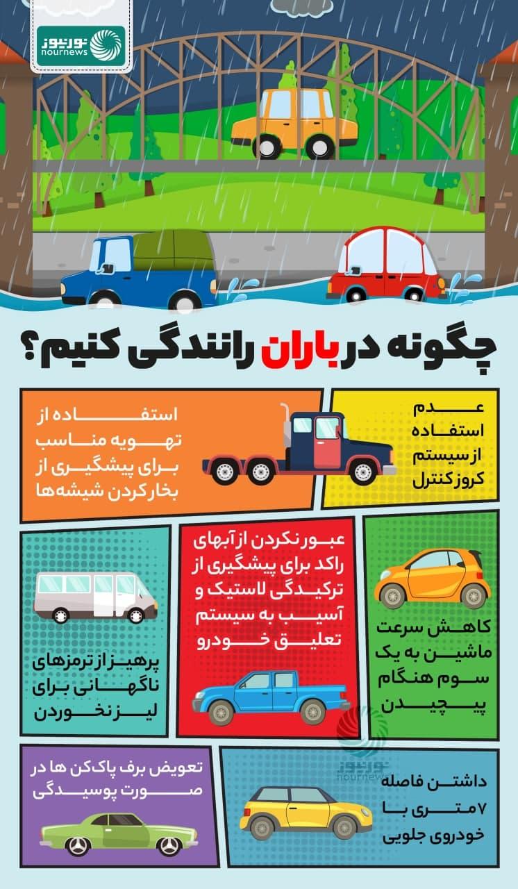 چگونه در هوای بارانی رانندگی کنیم؟