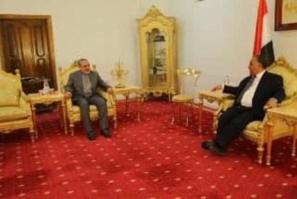 دیدار سفیر ایران با رئیس مجلس نمایندگان یمن