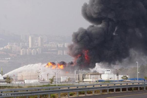 آتشسوزی گسترده در نزدیکی فرودگاه بنگوریون